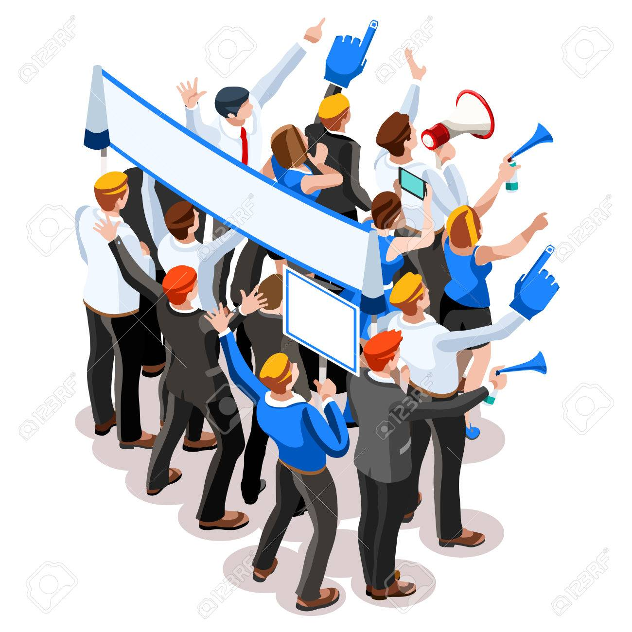 Election infographic.Debate party convention hall.Conference business meeting lecture.Congress theatre auditorium audience.Politic delegate competitors affiliates crowd rally.Vector isometric people - 64657843