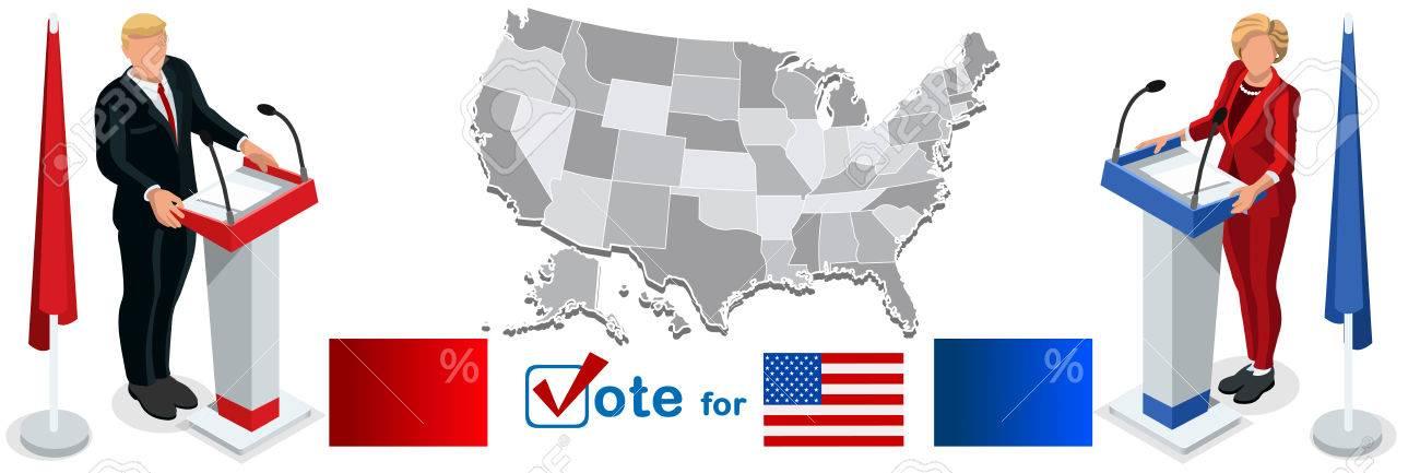 Us Election Infographic Democrat Republican Live Stream - Stream live us election map