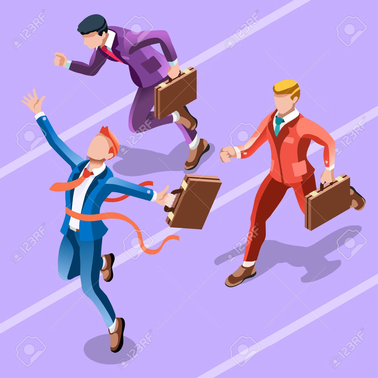 Business concept infographic vector design. Businessperson 3D character flat ambitious man. Job ambition changing role. Winning Startup group training goal setting and team management illustration Archivio Fotografico - 66680118