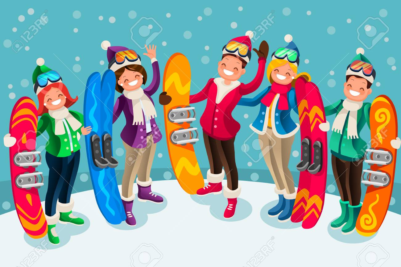 100 Pictures Cartoon Characters winter sports active leisure isometric people cartoon characters..
