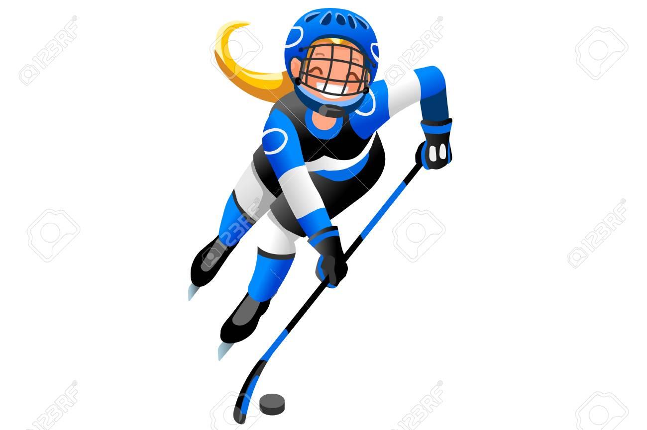 ice hockey vector cartoon clipart winter sports background with rh 123rf com hockey player clip art free clipart ice hockey player