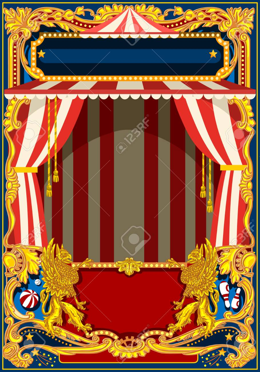carnival poster template circus vintage theme for kids birthday