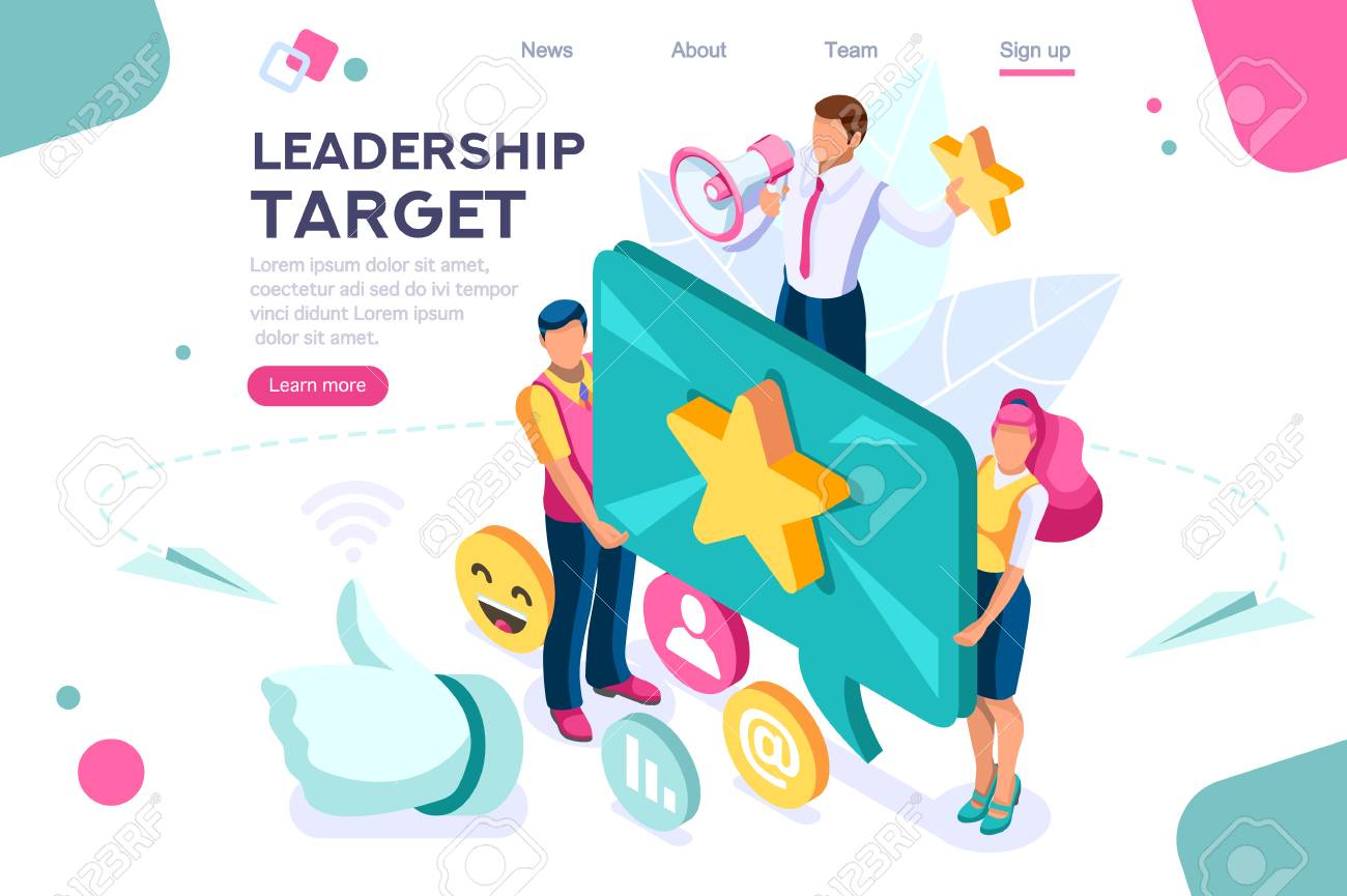 Hand show gesture, best conceptual target. Score app, can use for web banner, infographics, hero images. Flat isometric vector illustration isolated on white background - 122715000