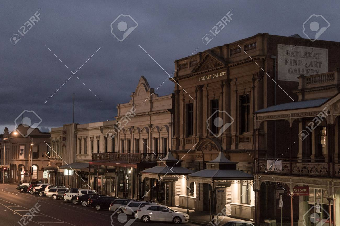 Central Road in Ballarat, Gold Mining City in Victoria