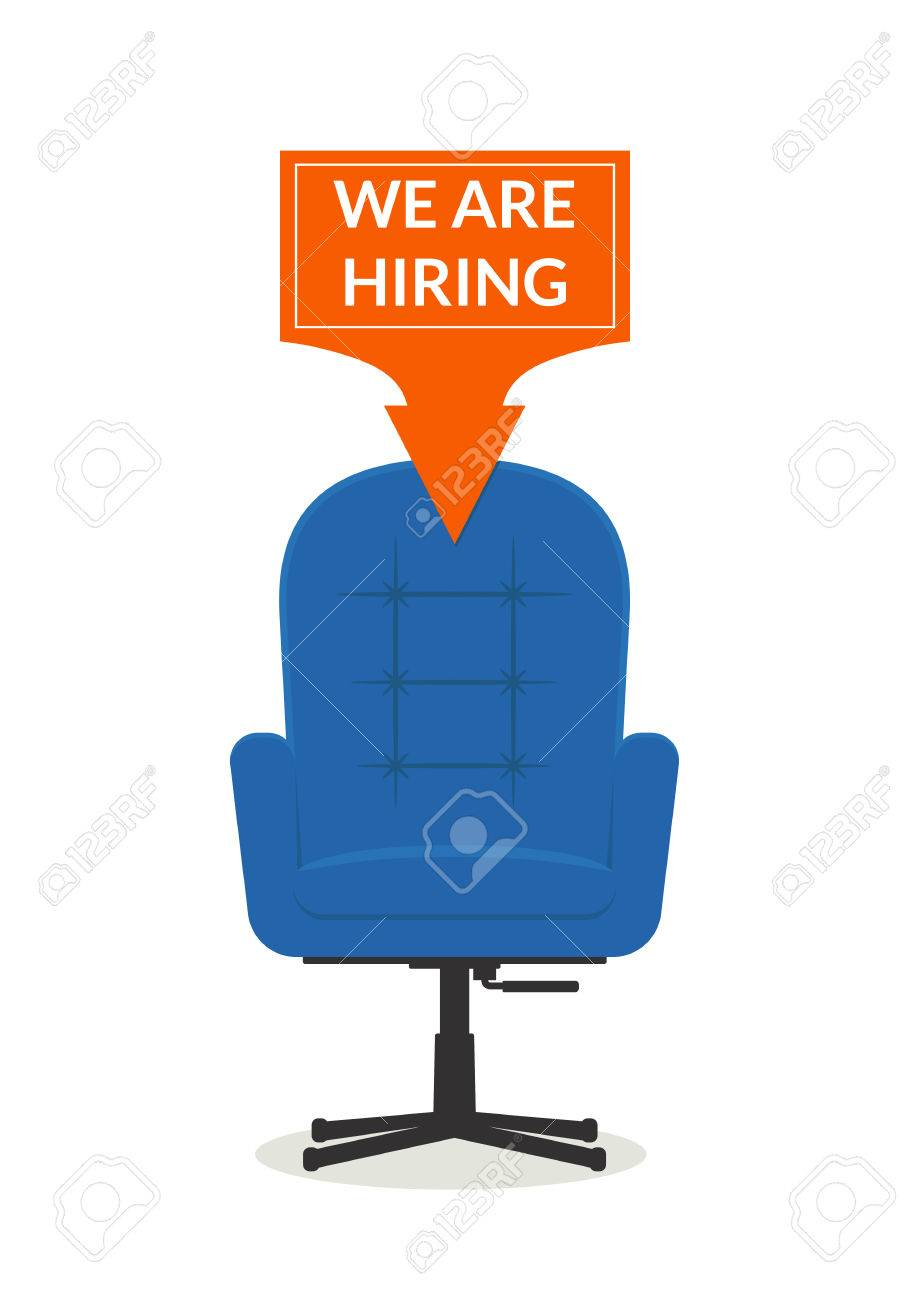 Hiring Workers Office Chair With A Banner We Are Hiring Recruiting