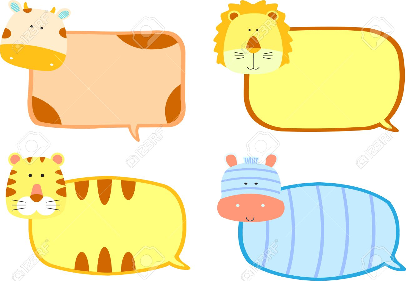 animals speech bubbles