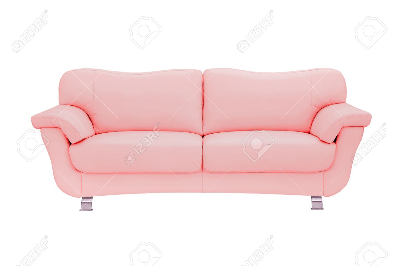 Pink leather sofa Pink Color Pink Leather Sofa Isolated On White Stock Photo 36143952 123rfcom Pink Leather Sofa Isolated On White Stock Photo Picture And