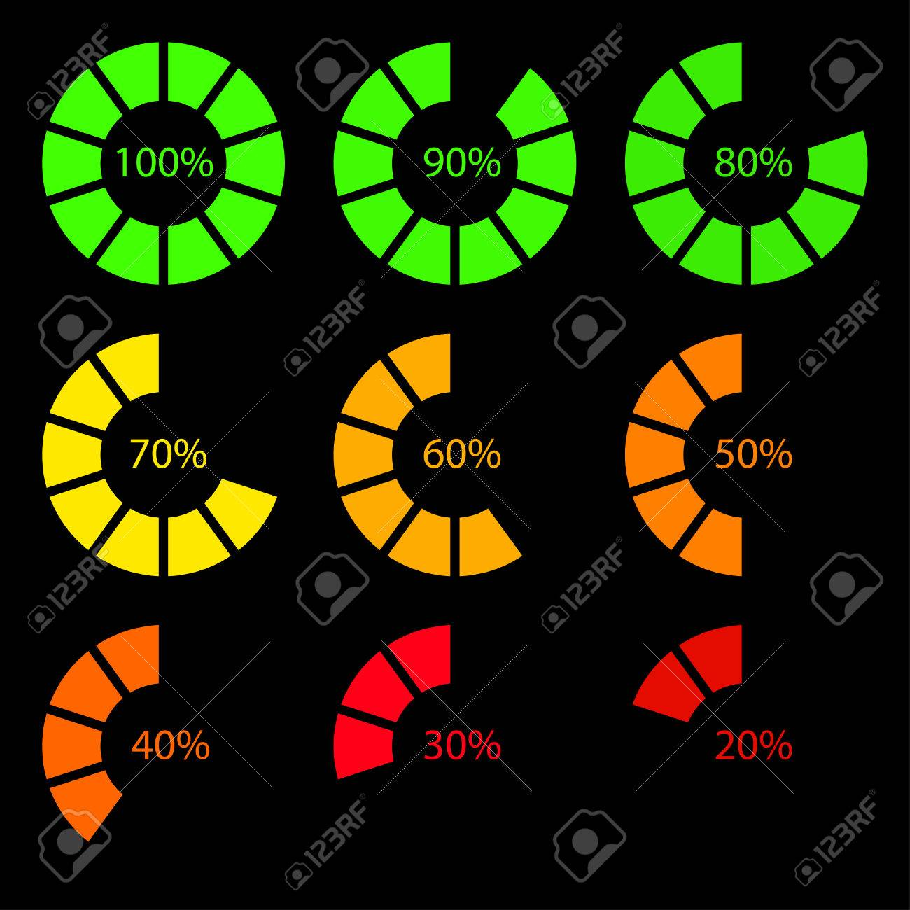 Battery Percentage Royalty Free Cliparts Vectors And Stock Illustration Image 31796765
