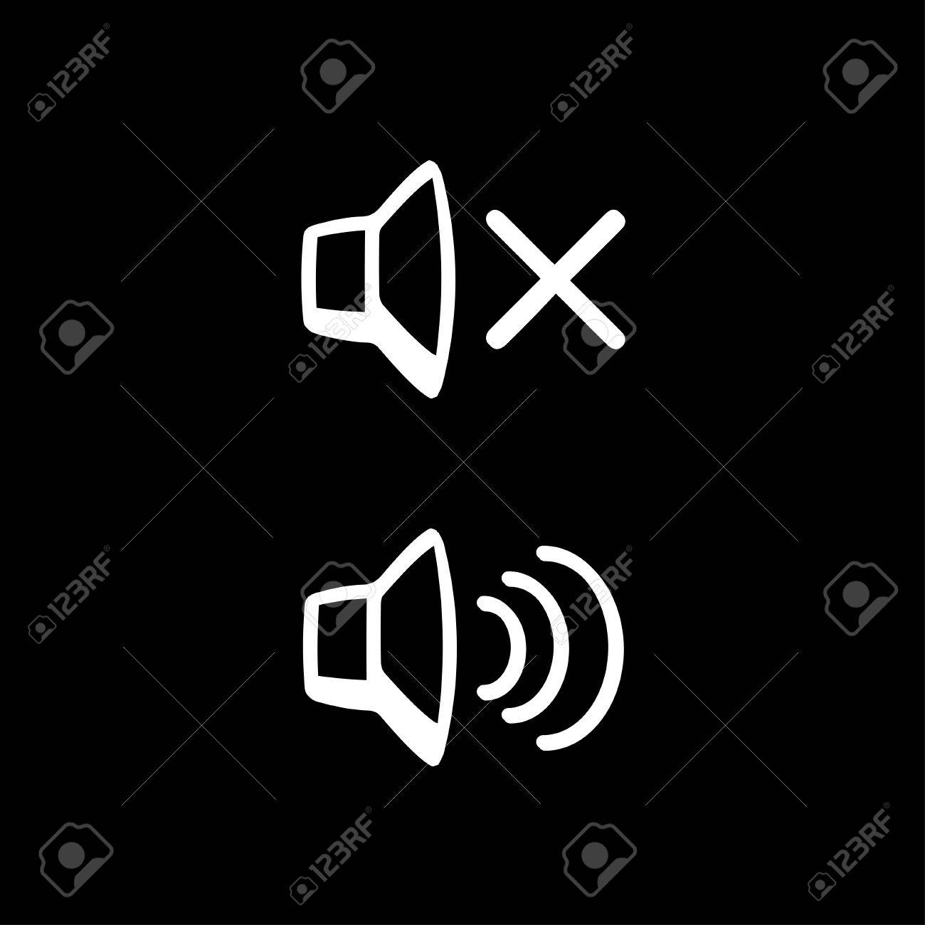 Sound off and sound on royalty free cliparts vectors and stock sound off and sound on stock vector 34350187 biocorpaavc Choice Image
