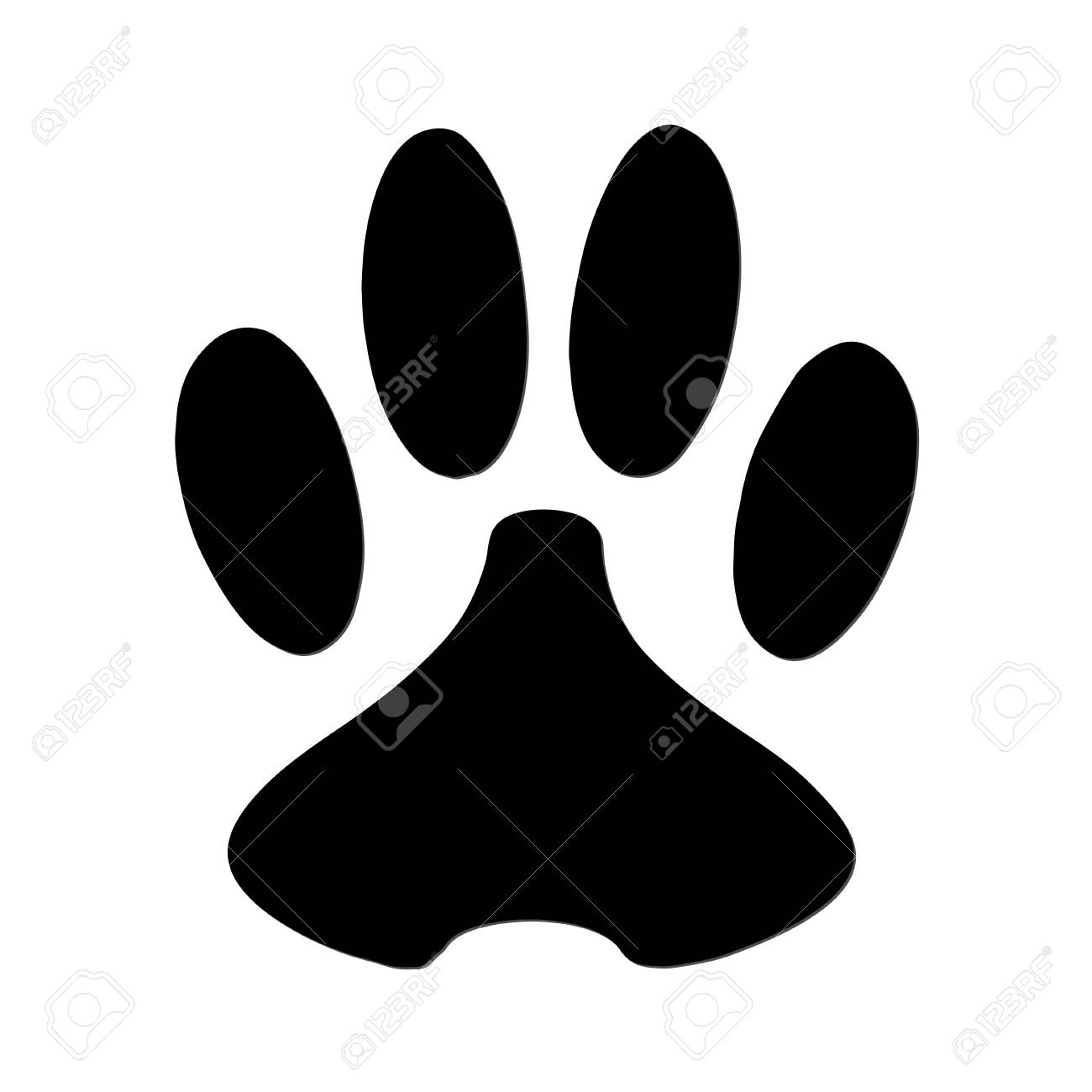 paw print royalty free cliparts vectors and stock illustration rh 123rf com vector paw print free vector dog paw print clip art free