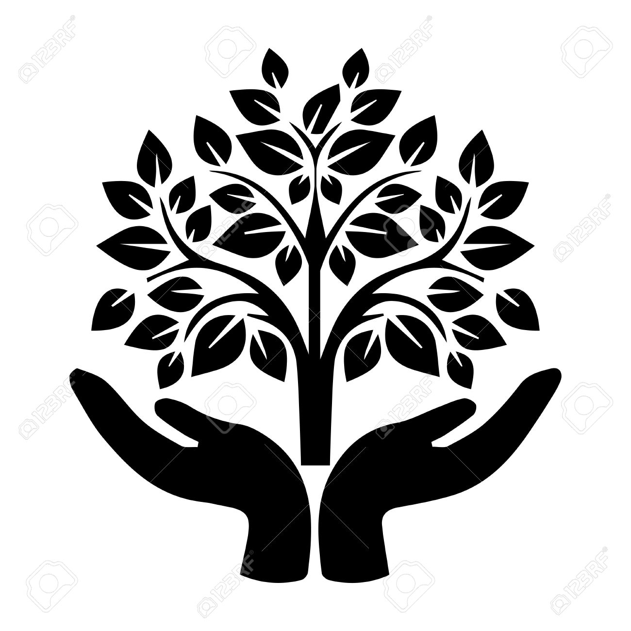 Hand Holding Tree Royalty Free Cliparts Vectors And Stock