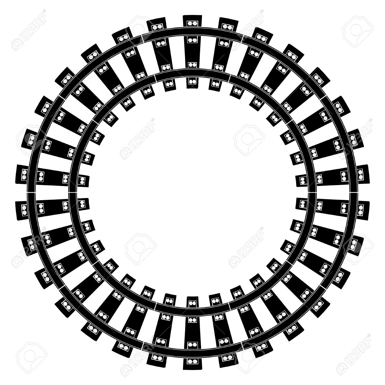 train tracks royalty free cliparts vectors and stock illustration rh 123rf com train track clipart images train track clipart black and white
