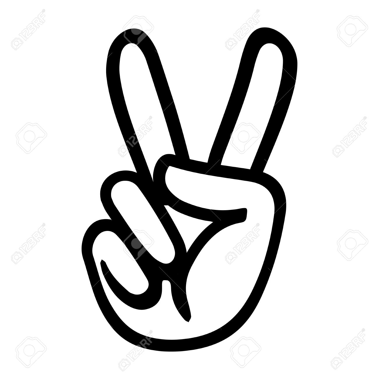8208 Peace Sign Fingers Cliparts Stock Vector And Royalty Free
