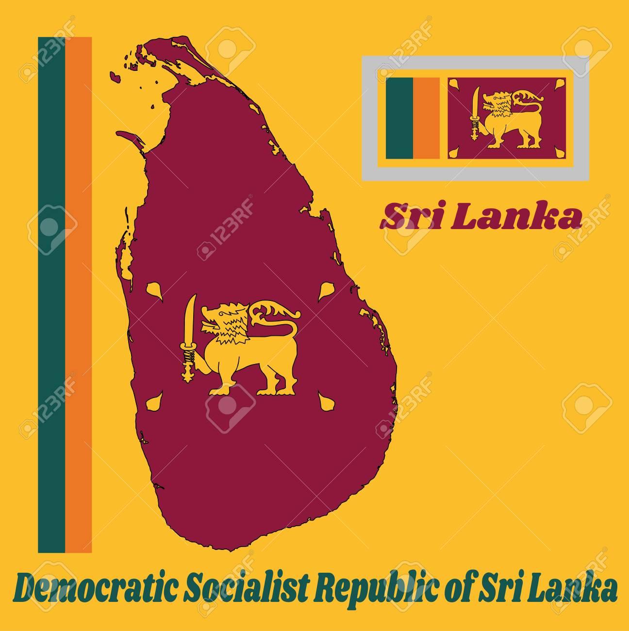 Map Outline And Flag Of Sri Lanka Four Color Of Green Orange Royalty Free Cliparts Vectors And Stock Illustration Image 105664211 Prowadzimy sprzedaż nowych mieszkań i apartamentów w kameralnych i eleganckich inwestycjach. map outline and flag of sri lanka four color of green orange