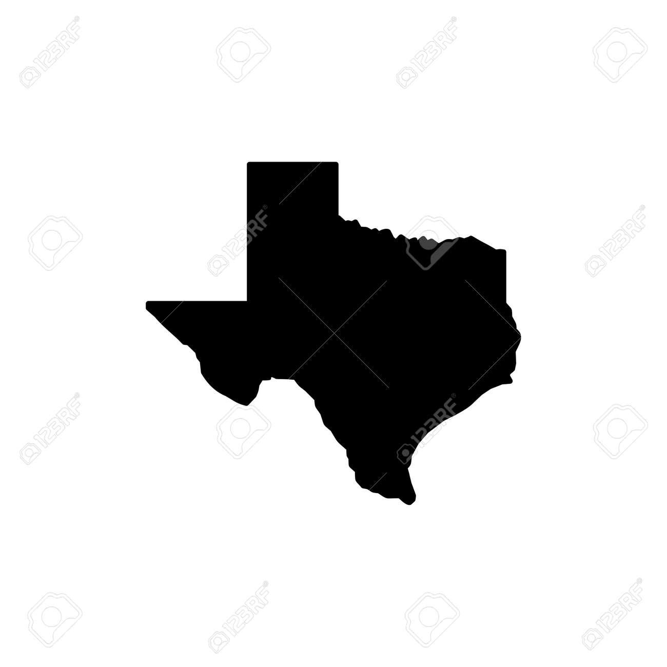 Texas map icon on white background, Texas symbol, Texas map. - 165830707