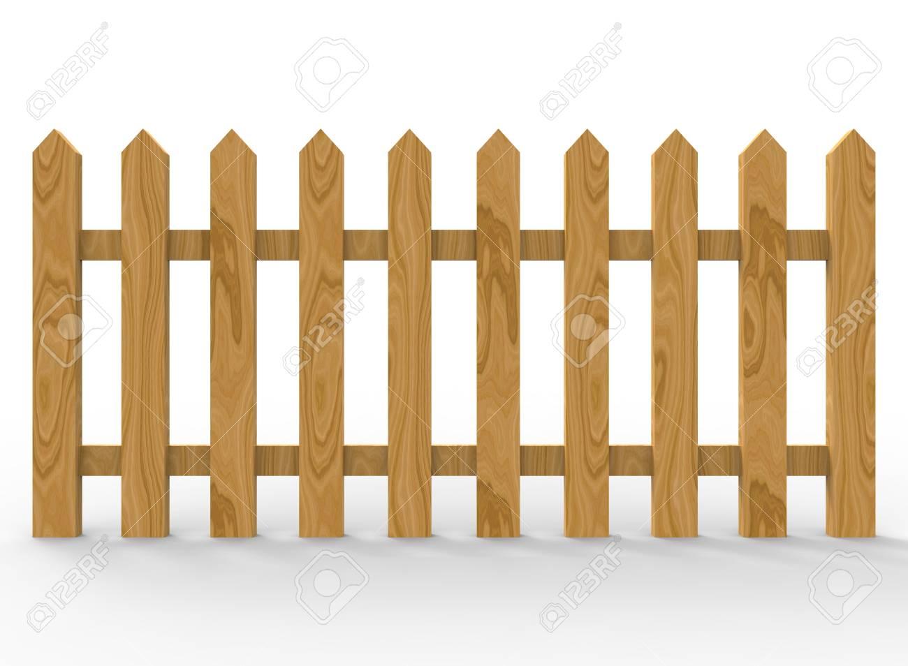 3d Darstellung Von Einfachen Zaun Low Poly Stil Einfach Zu