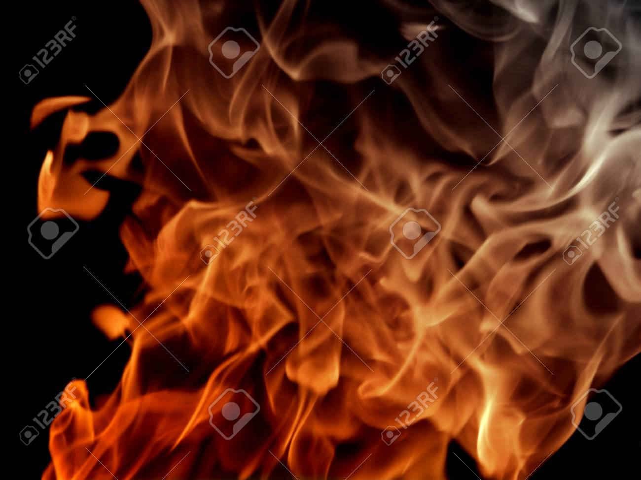Texture Fire Flame With Smoke On Black Background Stock Photo Picture And Royalty Free Image Image 59722038