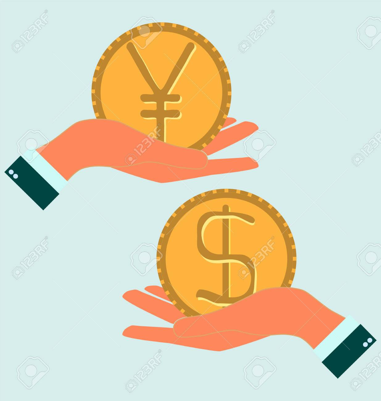 Human hand with currency symbols for market and stock money human hand with currency symbols for market and stock money exchange concept hand hold dollar biocorpaavc Images