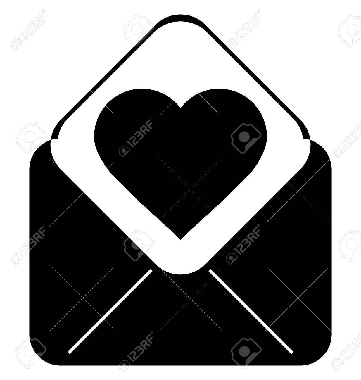 love letter. valentine day love beautiful. envelope with heart