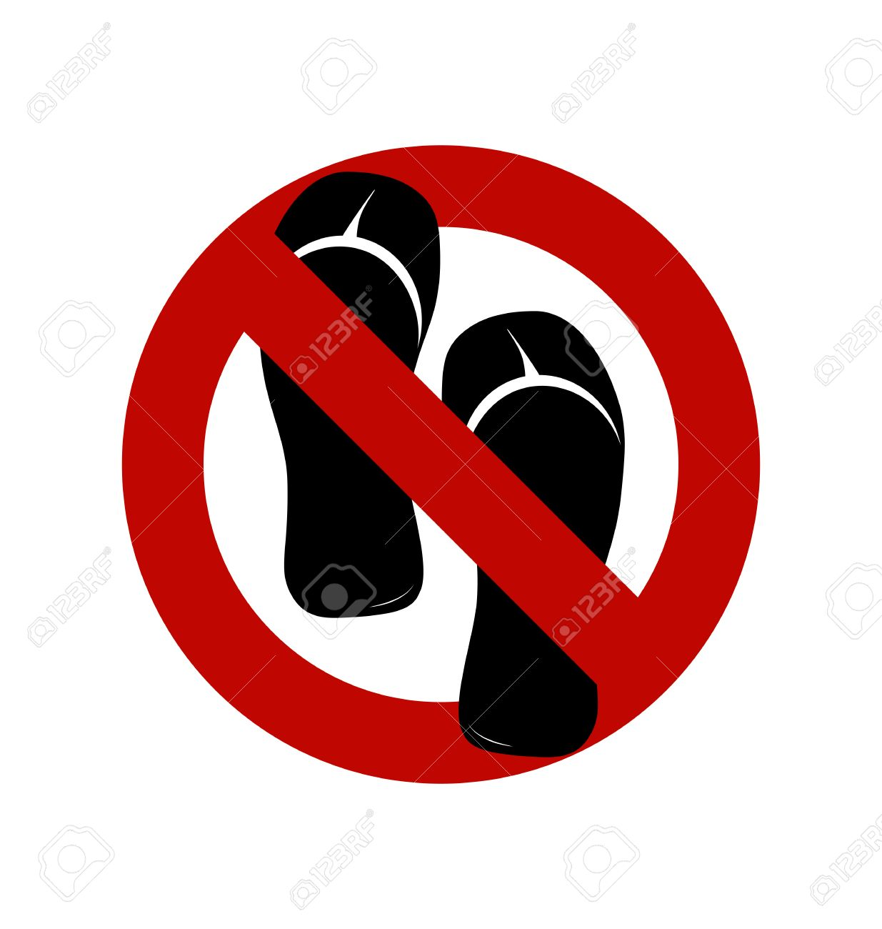 No sandals no shoes no slippers sign on white background no no sandals no shoes no slippers sign on white background no ban buycottarizona
