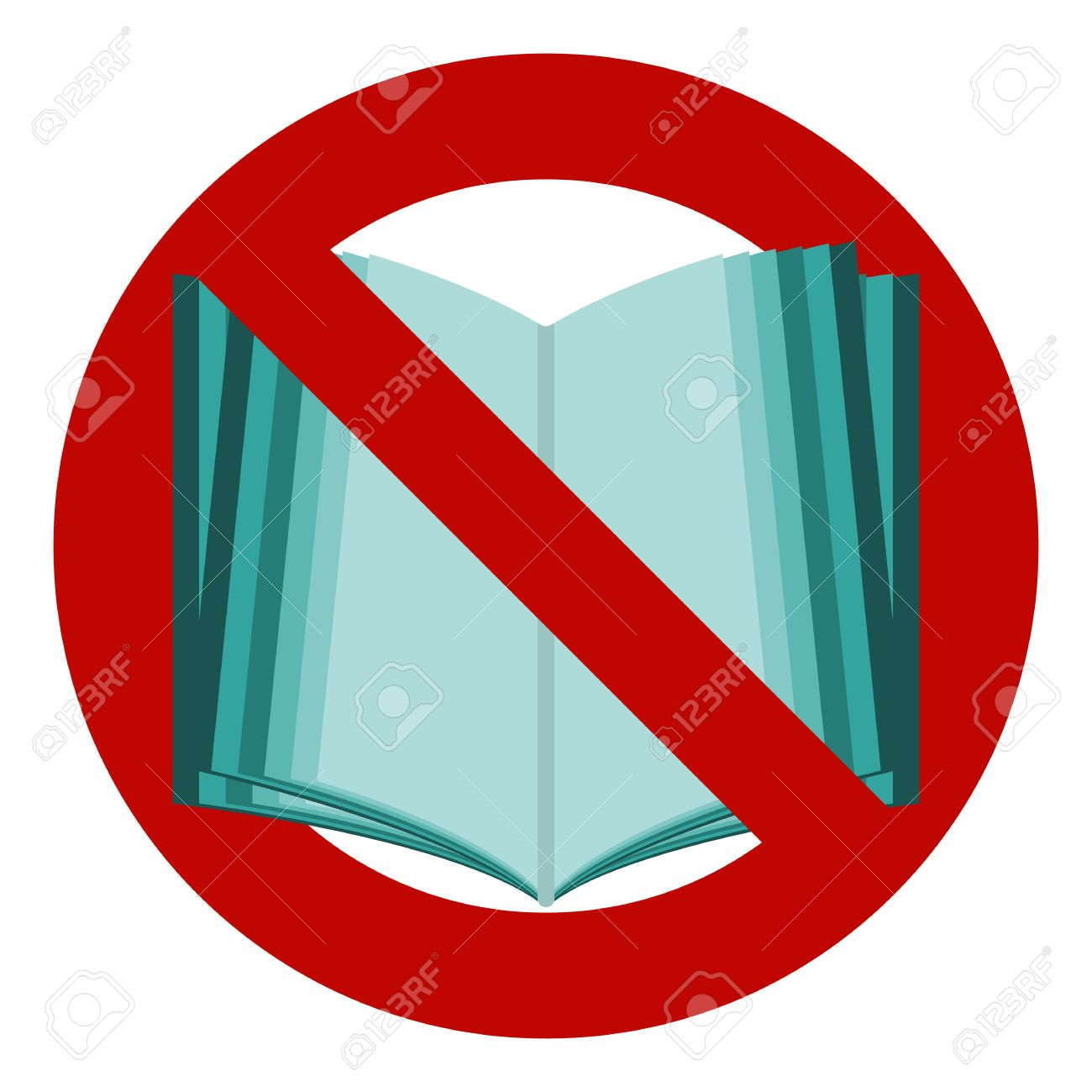 Do not read icon the symbol of the open book no stop banned the symbol of the open book no stop buycottarizona Image collections