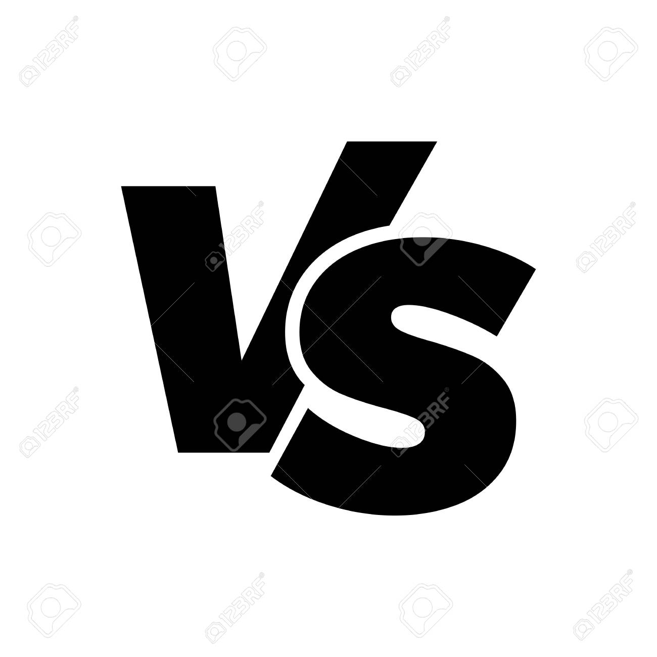 VS versus letters vector icon isolated on white background. VS versus symbol for confrontation or opposition design concept - 97585764