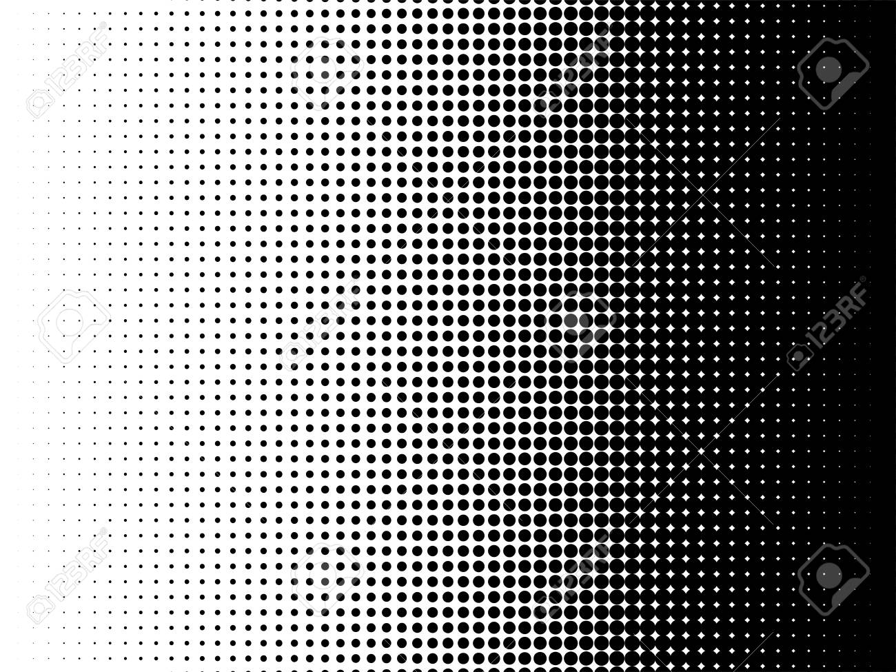 Radial Halftone Pattern Texture Vector Black And White Radial