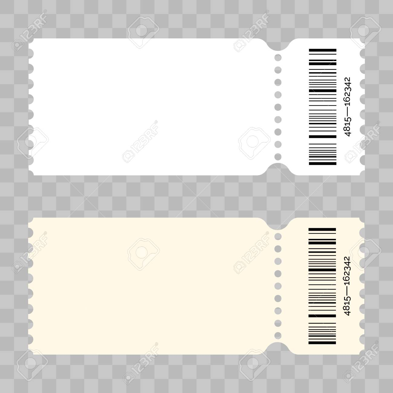 Ticket Template   Ticket Template Modern Trendy Blank Design Vector Admit Ticket With