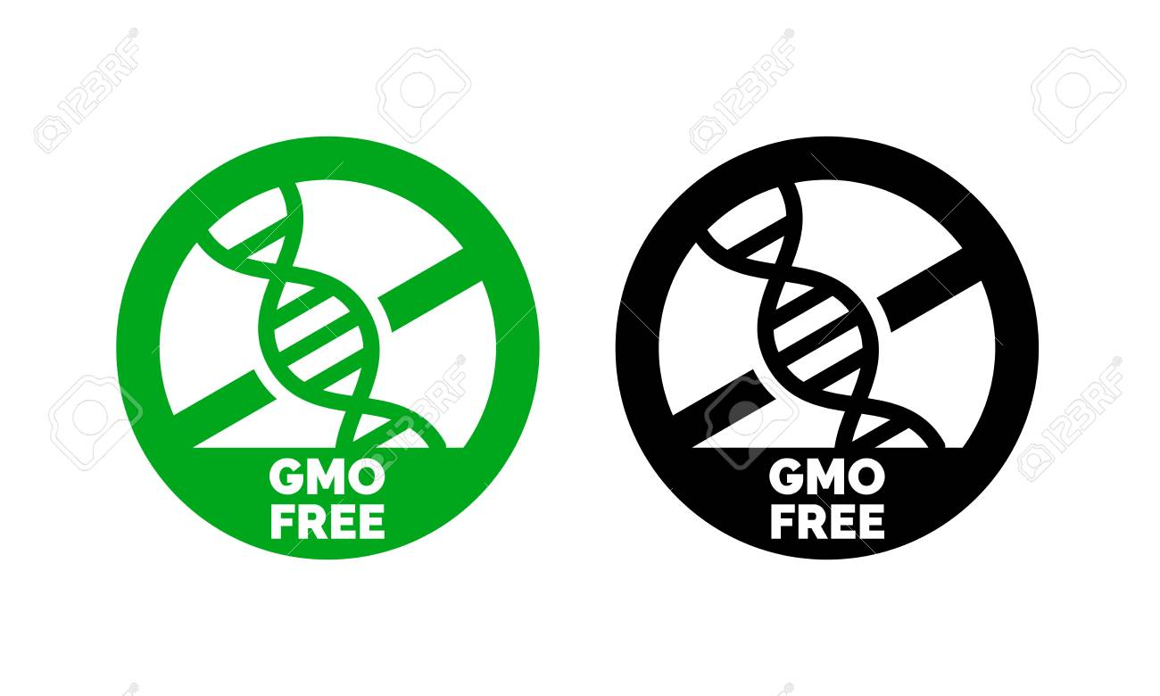 Gmo free label with dna vector icon for non gmo product package gmo free label with dna vector icon for non gmo product package or gmo free natural buycottarizona Images