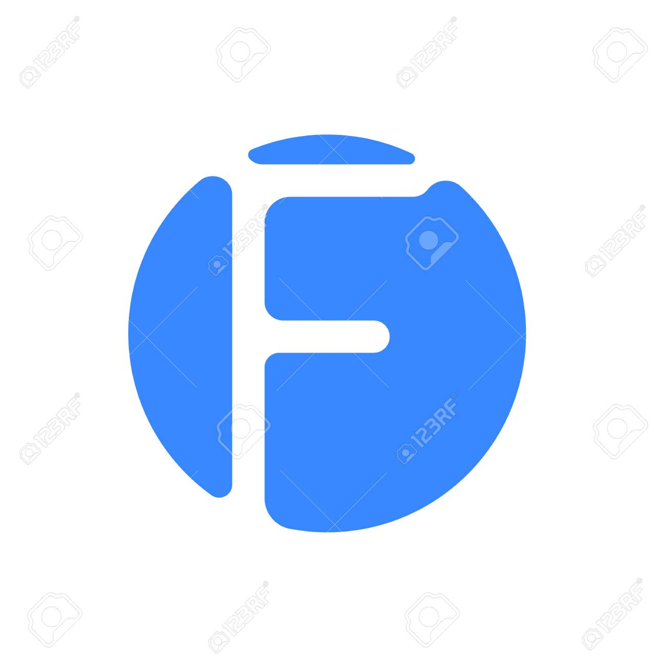 Letter logo modern abstract blue icon of letter F for font logo Stock Vector  - 98717901 aa5f236436e0