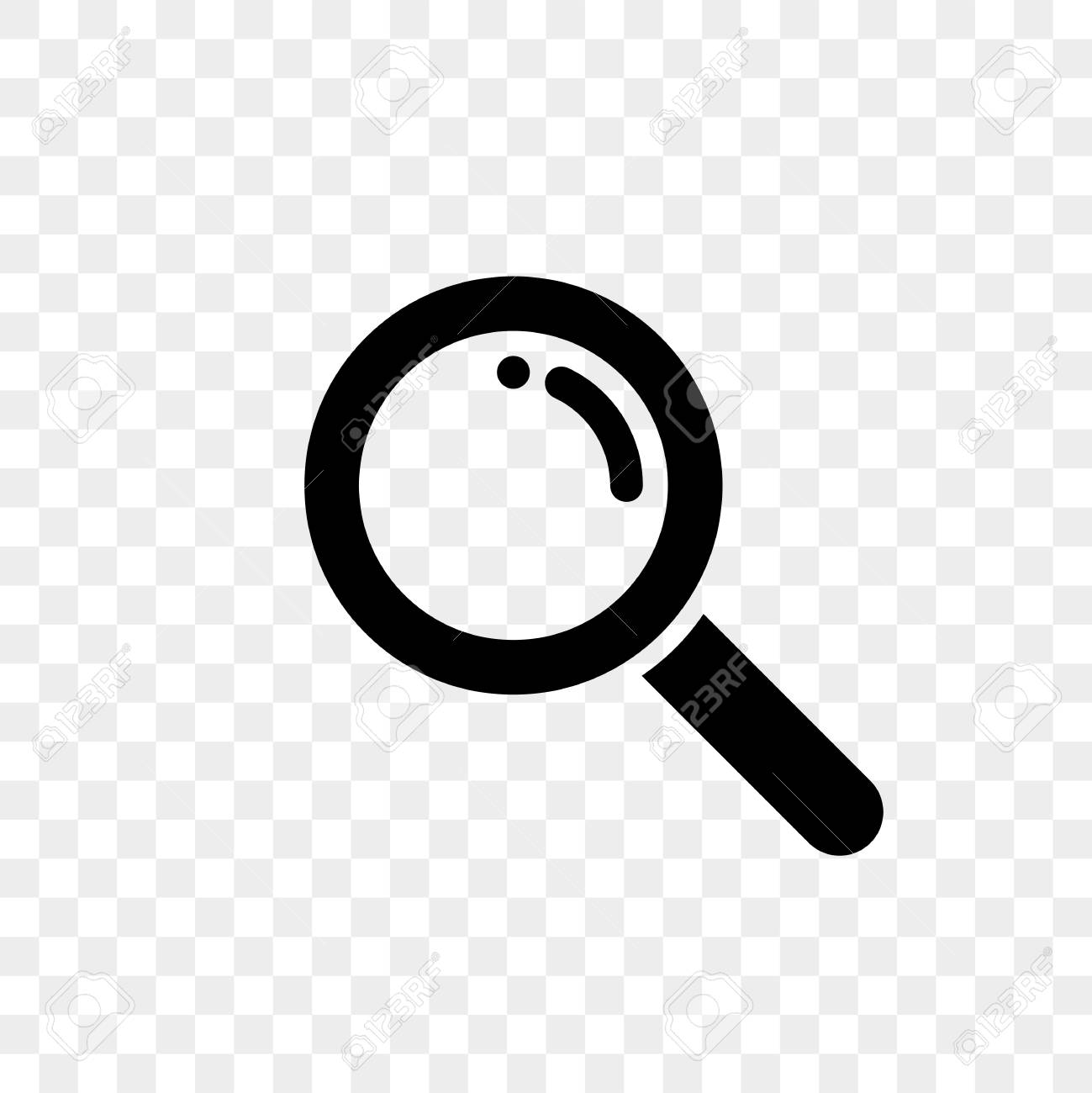 Search icon of vector magnifier for internet search engine or