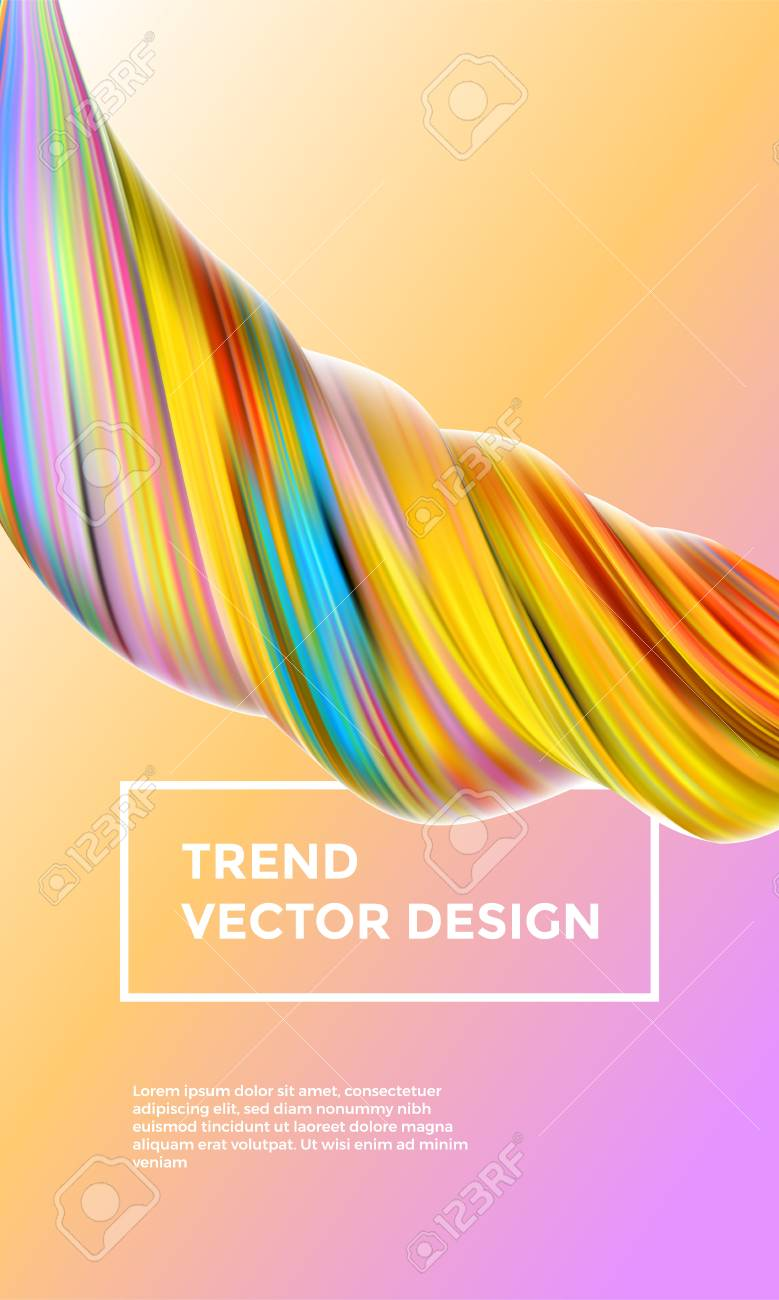 Orange Vector Digital Painting Abstract Background Creative