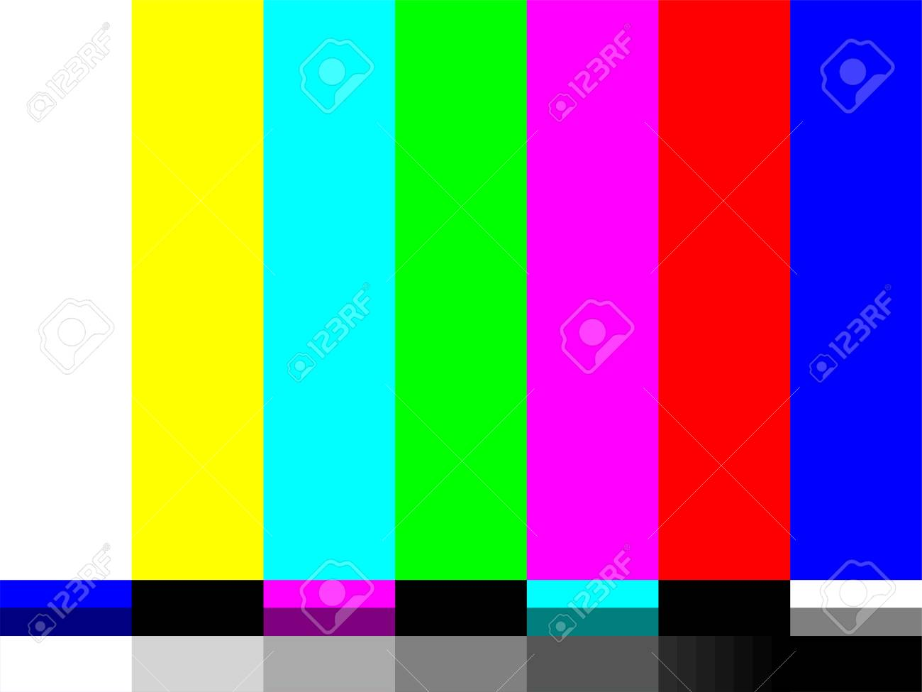 No signal TV color test card of vector bar pattern - 111902588