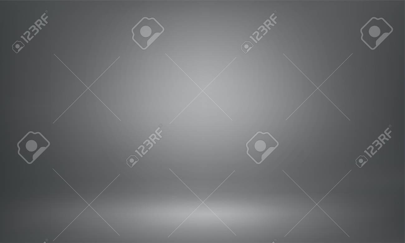 Gray studio background of 3D room or lightbox backdrop. Vector spotlight illumination for product mockup photography and render design template or presentation show gray background - 110096492