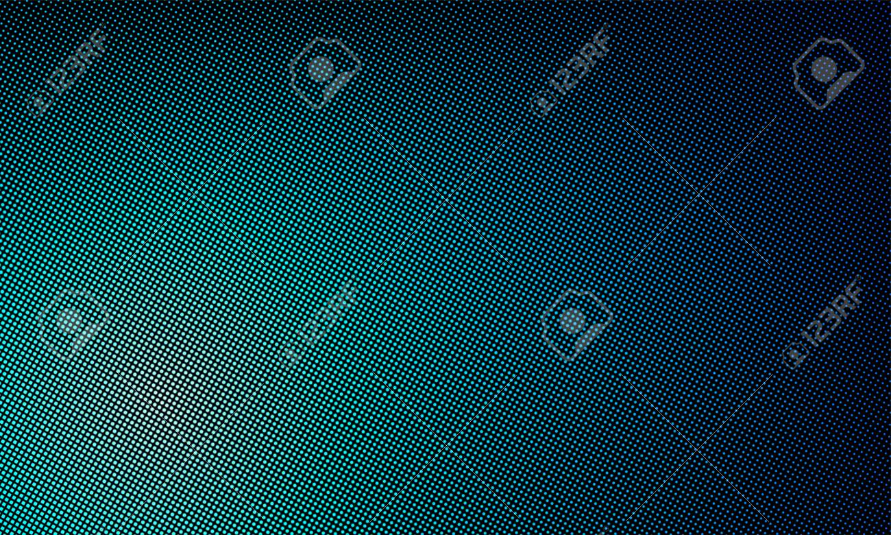 LED texture screen, digital video wall background  Vector blue