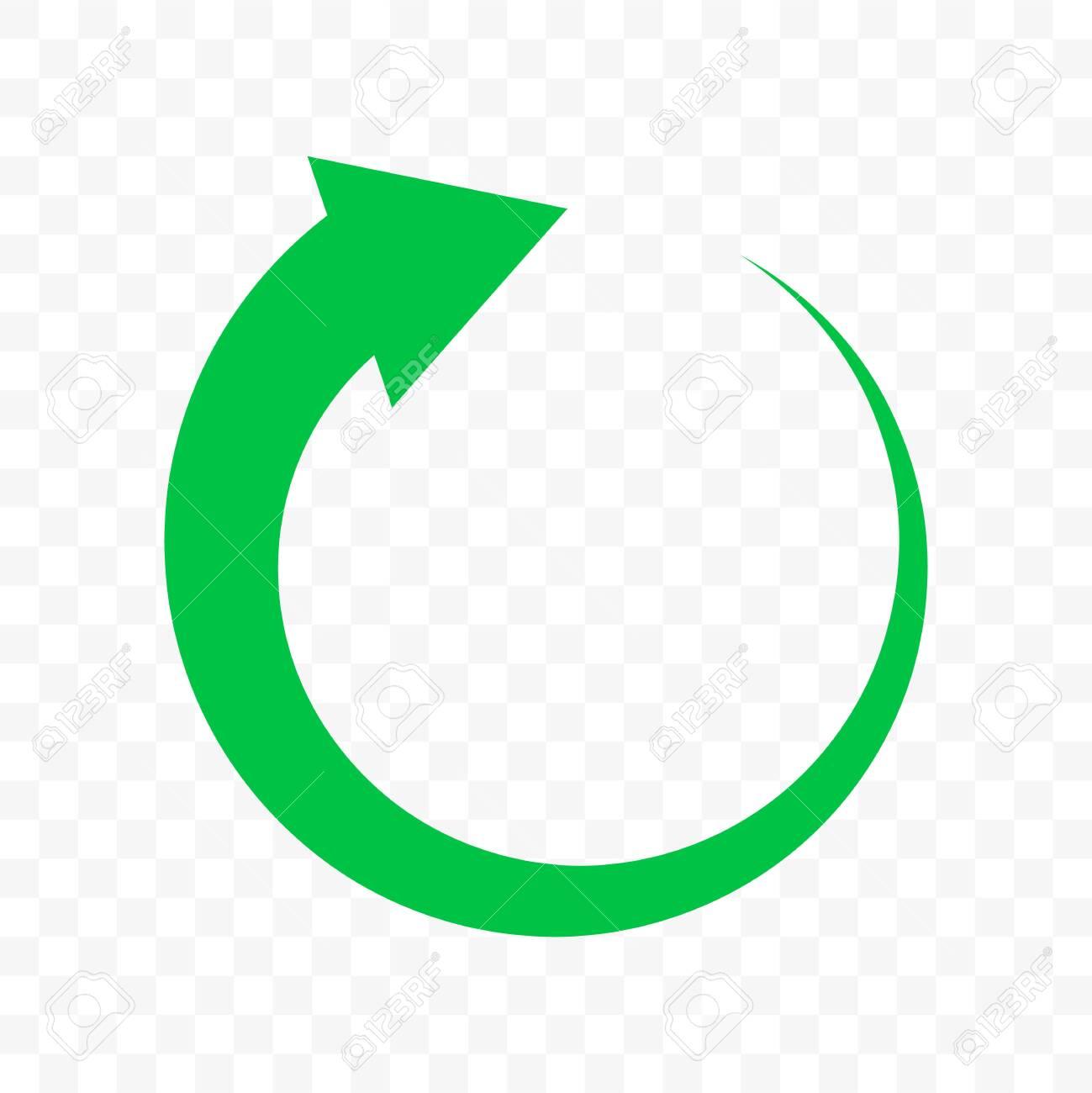 recycle green arrow circle icon vector bio garbage reuse eco royalty free cliparts vectors and stock illustration image 121672242 recycle green arrow circle icon vector bio garbage reuse eco