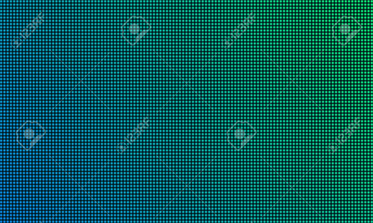 LED TV screen monitor with diode light texture background  Vector