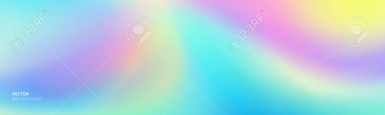 Color gradation abstract gradient soft background, vector blend mesh. Holographic iridescent blurred soft gradation effect - 163822679