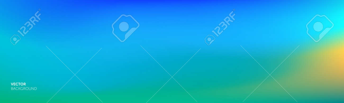 Gradient background, color abstract blend mesh, vector blurred soft blue turquoise color gradation effect - 163822757