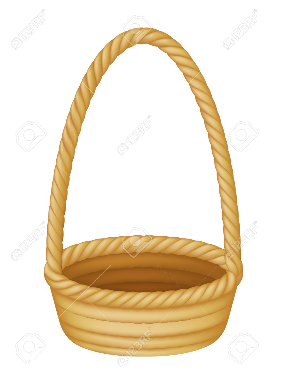 Illustration Of An Empty Wicker Picnic Or Easter Basket Stock Vector
