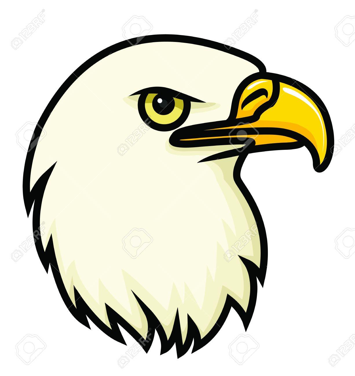 Banque dimages un dessin vectoriel de dessin animé le visage de un aigle chauve