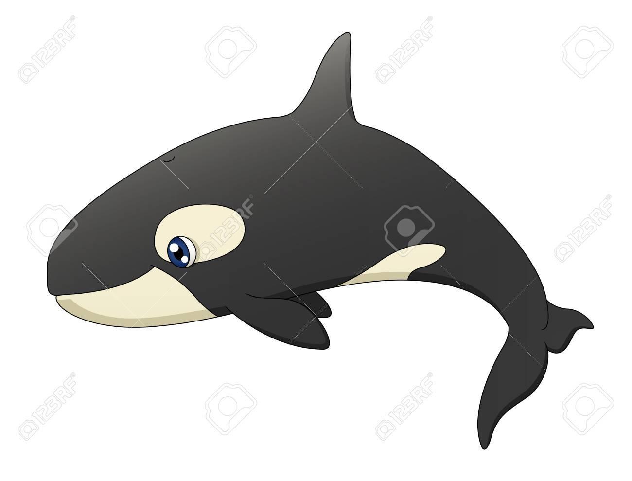 Orca Whale Cartoon cute cartoon killer whale