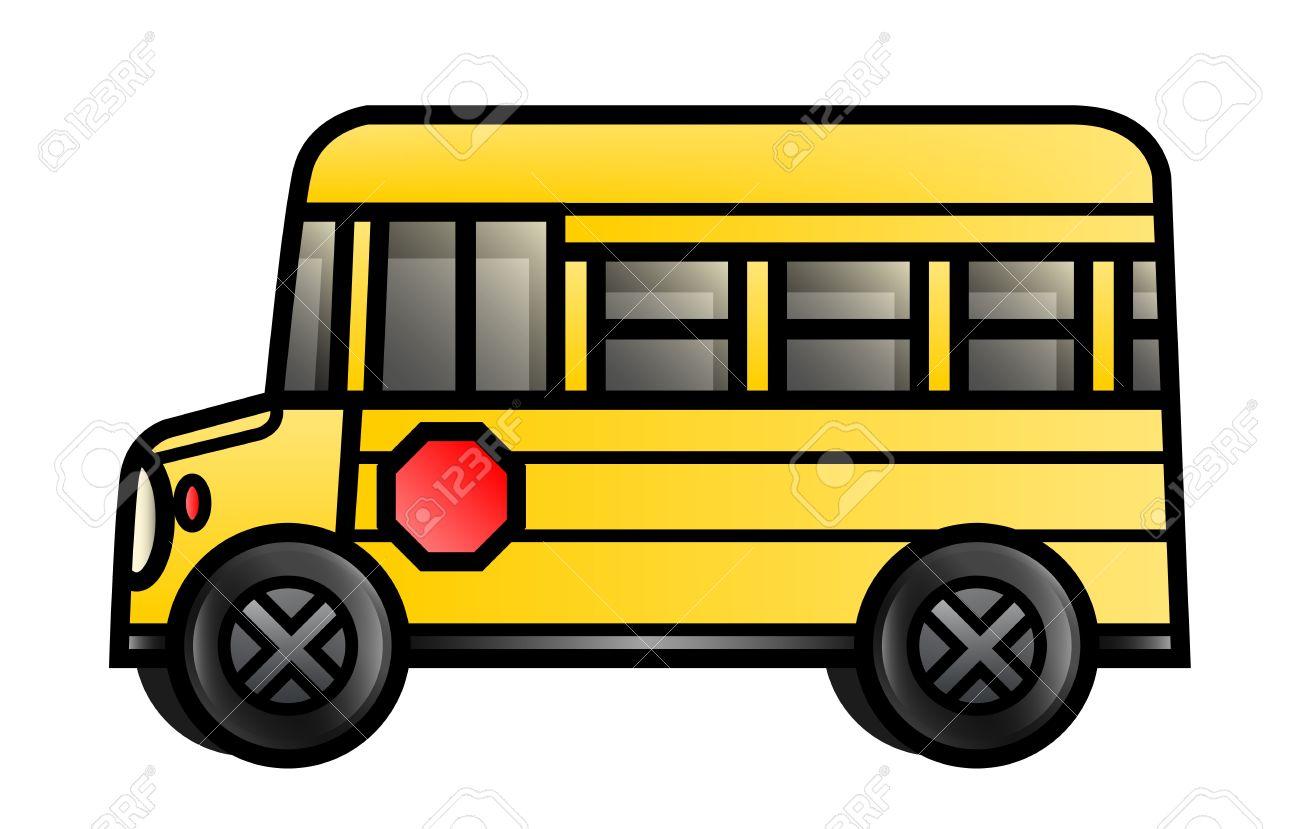 漫画のスクールバスのイラスト ロイヤリティフリークリップアート