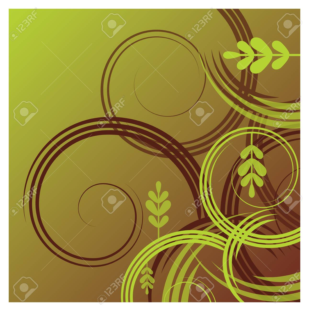A foliage themed abstract background Stock Vector - 18263607