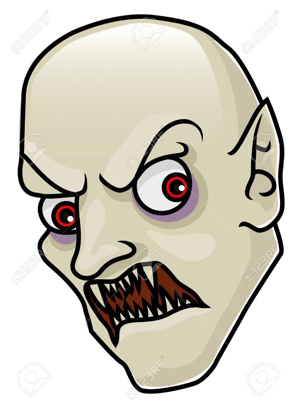 A Cartoon Halloween Vampire Head Or Mask Royalty Free Cliparts ...
