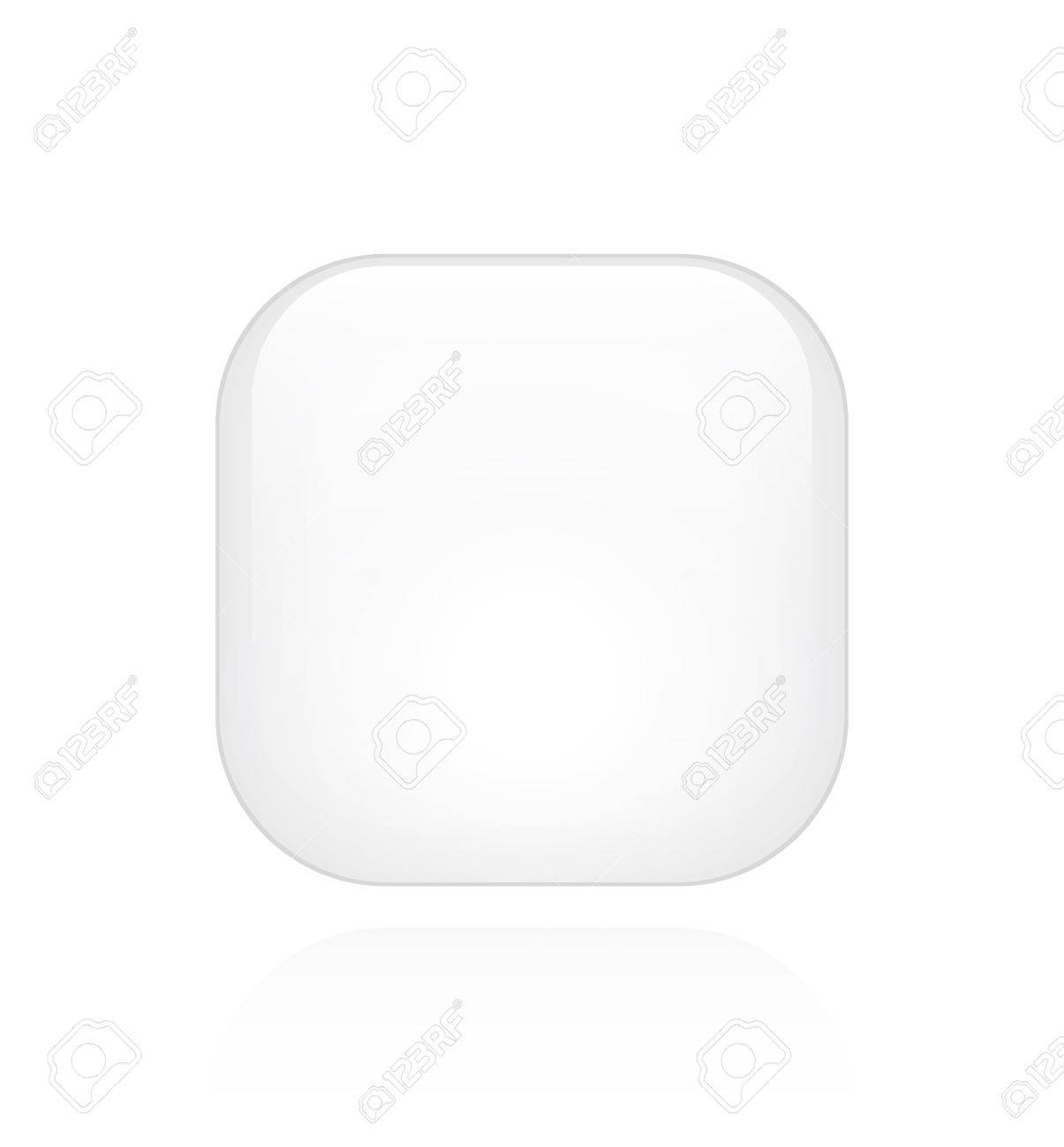 A single white minimalistic button with room for text or an icon Stock Vector - 19481814