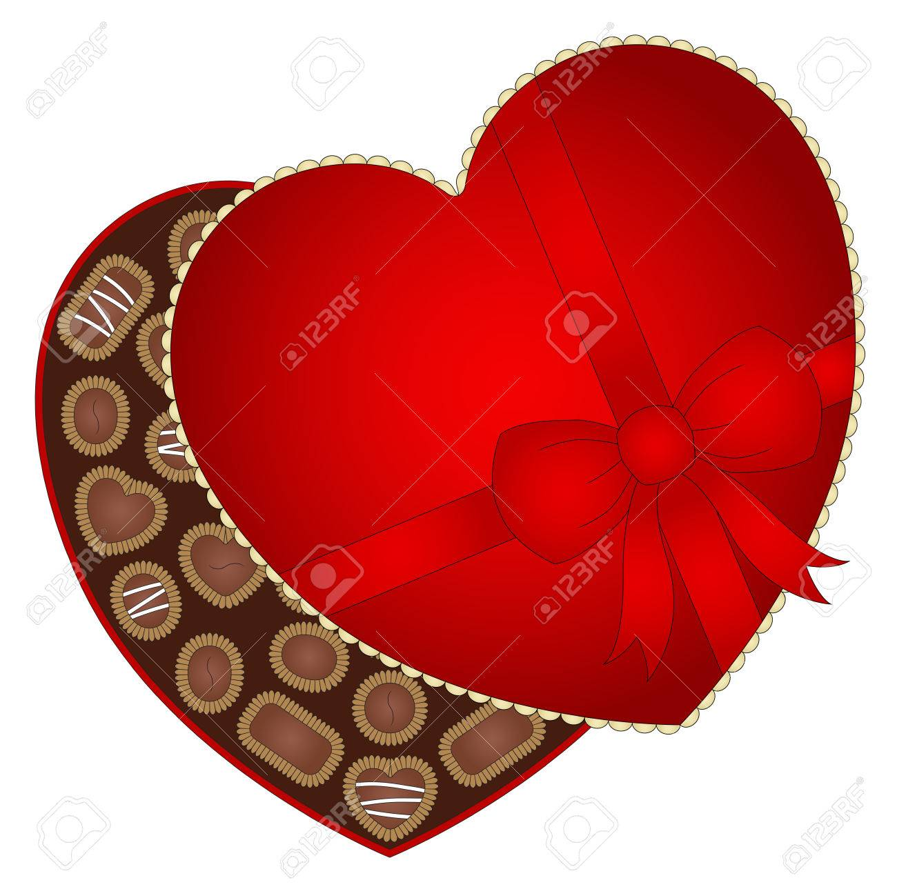 Illustration Of A Box Of Valentine S Day Chocolate Royalty Free