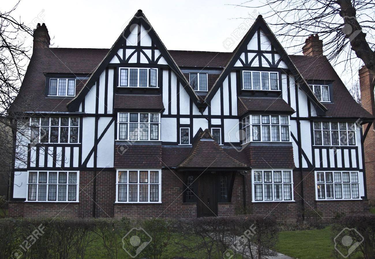Stock Photo   Tudor House In England