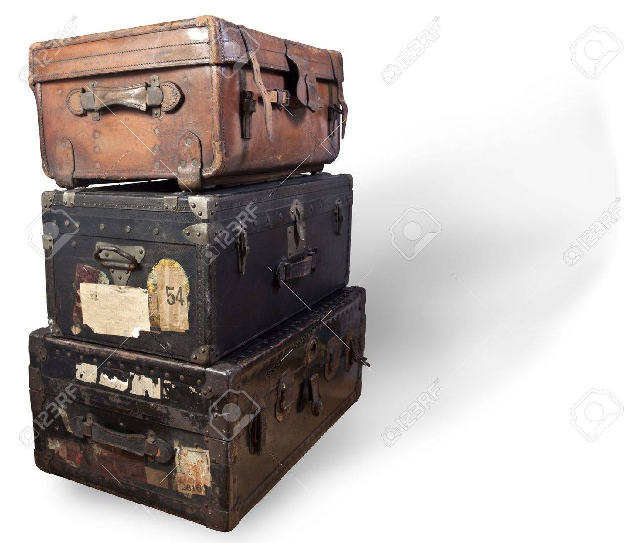 Antique Steamer Trunks. Stock Photo, Picture And Royalty Free ...