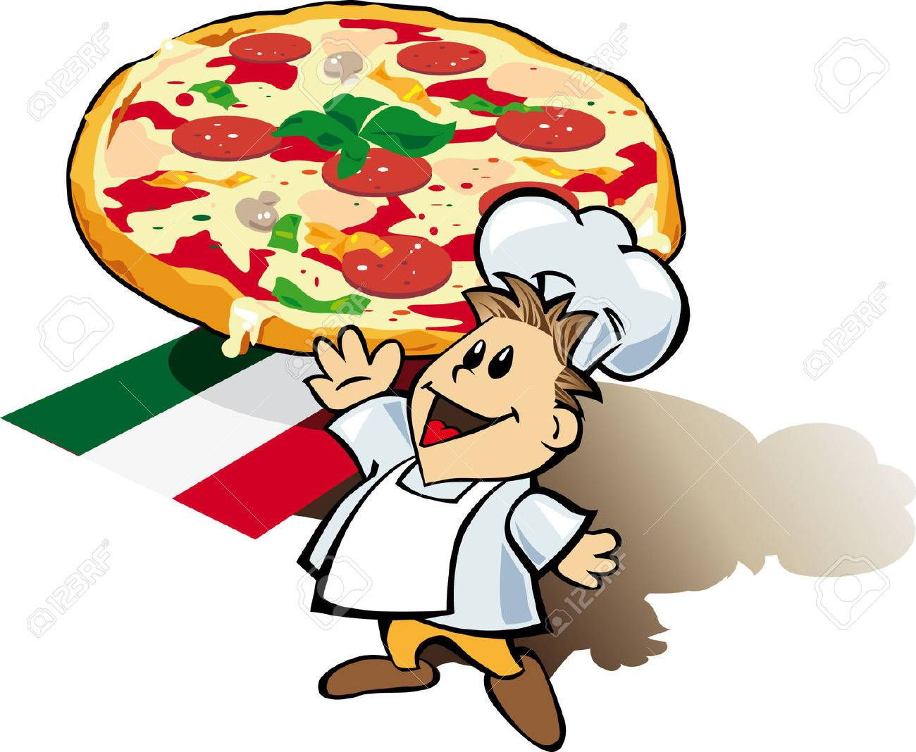 italian chef cook with pizza giant royalty free cliparts, vectors ... - Cucinare Pizza